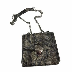 Kate Landry Python Chain Small Crossbody Purse Bag